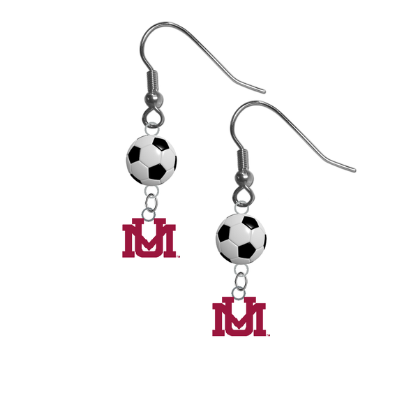 Montana Grizzlies NCAA Soccer Dangle Earrings