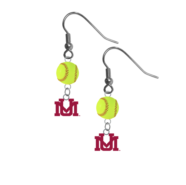 Montana Grizzlies NCAA Fastpitch Softball Dangle Earrings