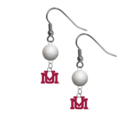 Montana Grizzlies NCAA Volleyball Dangle Earrings
