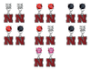 Nebraska Cornhuskers NCAA Swarovski Crystal Stud Rhinestone Earrings