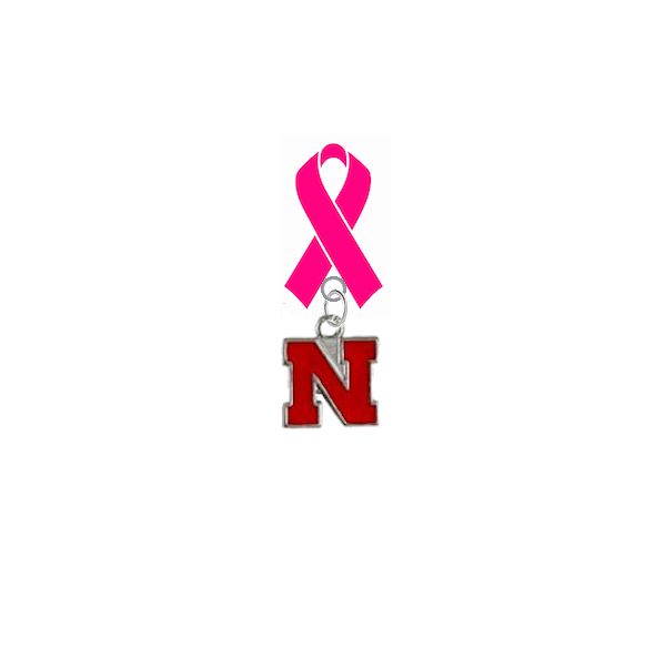 Nebraska Cornhuskers Breast Cancer Awareness / Mothers Day Pink Ribbon Lapel Pin