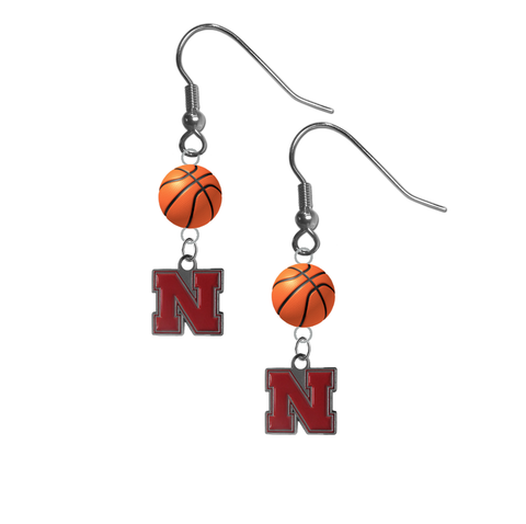 Nebraska Cornhuskers NCAA Basketball Dangle Earrings