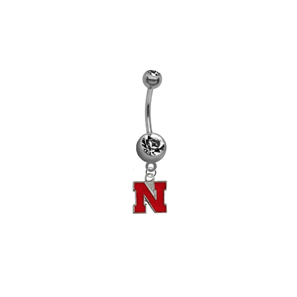 Nebraska Cornhuskers NCAA College Belly Button Navel Ring