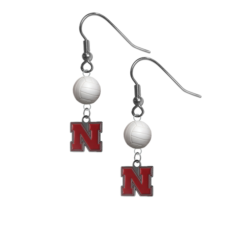 Nebraska Cornhuskers NCAA Volleyball Dangle Earrings