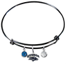 Nevada Wolf Pack BLACK Color Edition Expandable Wire Bangle Charm Bracelet