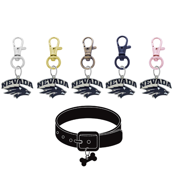 Nevada Wolf Pack NCAA Pet Tag Dog Cat Collar Charm