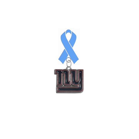 New York Giants NFL Prostate Cancer Awareness / Fathers Day Light Blue Ribbon Lapel Pin