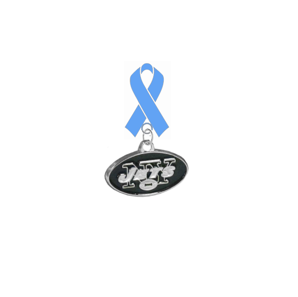 New York Jets NFL Prostate Cancer Awareness / Fathers Day Light Blue Ribbon Lapel Pin