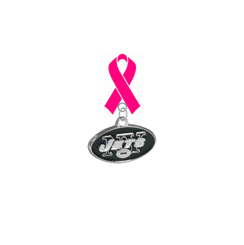 New York Jets NFL Breast Cancer Awareness / Mothers Day Pink Ribbon Lapel Pin
