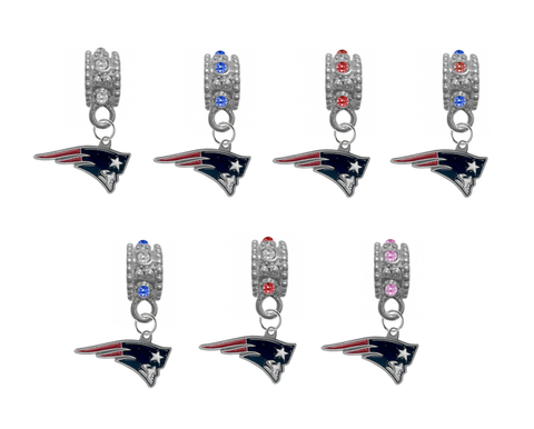 New England Patriots NFL Football Crystal Rhinestone European Bracelet Charm