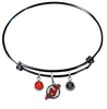 New Jersey Devils Color Edition BLACK Expandable Wire Bangle Charm Bracelet