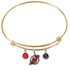 New Jersey Devils Color Edition GOLD Expandable Wire Bangle Charm Bracelet