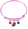 New Jersey Devils Color Edition PINK Expandable Wire Bangle Charm Bracelet