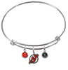 New Jersey Devils NHL Expandable Wire Bangle Charm Bracelet