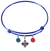 New Orleans Pelicans BLUE Color Edition Expandable Wire Bangle Charm Bracelet