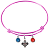 New Orleans Pelicans PINK Color Edition Expandable Wire Bangle Charm Bracelet