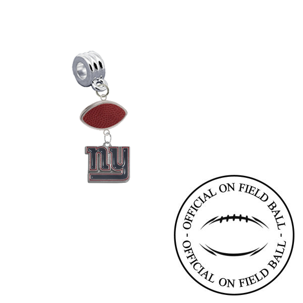 New York Giants On Field Football Universal European Bracelet Charm (Pandora Compatible)