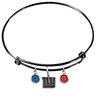 New York Giants Black NFL Expandable Wire Bangle Charm Bracelet