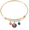 New York Islanders Color Edition GOLD Expandable Wire Bangle Charm Bracelet