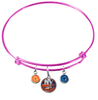 New York Islanders Color Edition PINK Expandable Wire Bangle Charm Bracelet