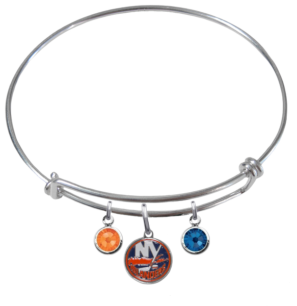 New York Islanders NHL Expandable Wire Bangle Charm Bracelet