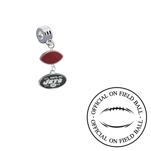 New York Jets On Field Football Universal European Bracelet Charm (Pandora Compatible)