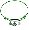 New York Jets Green NFL Expandable Wire Bangle Charm Bracelet