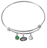 New York Jets NFL Expandable Wire Bangle Charm Bracelet