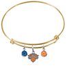 New York Knicks GOLD Color Edition Expandable Wire Bangle Charm Bracelet