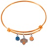 New York Knicks ORANGE Color Edition Expandable Wire Bangle Charm Bracelet