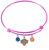 New York Knicks PINK Color Edition Expandable Wire Bangle Charm Bracelet