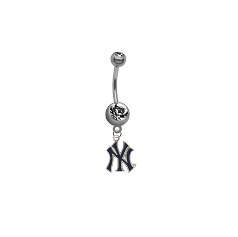 New York Yankees Style 2 MLB Baseball Belly Button Navel Ring