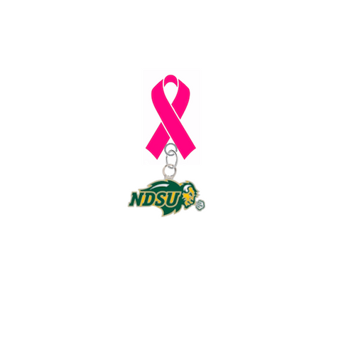 North Dakota State Bison Aggies Breast Cancer Awareness / Mothers Day Pink Ribbon Lapel Pin