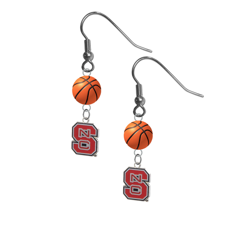 North Carolina State Wolfpack NCAA Basketball Dangle Earrings