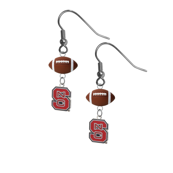 North Carolina State Wolfpack NCAA Football Dangle Earrings