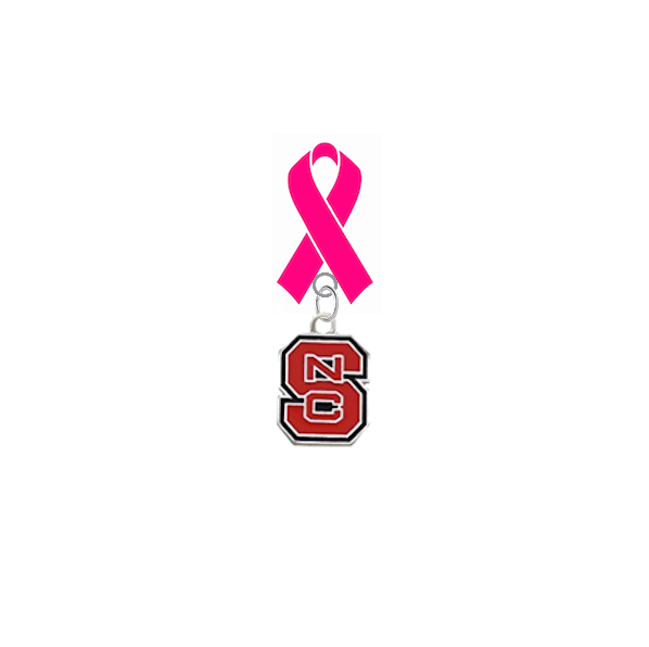 North Carolina State Wolfpack Aggies Breast Cancer Awareness / Mothers Day Pink Ribbon Lapel Pin
