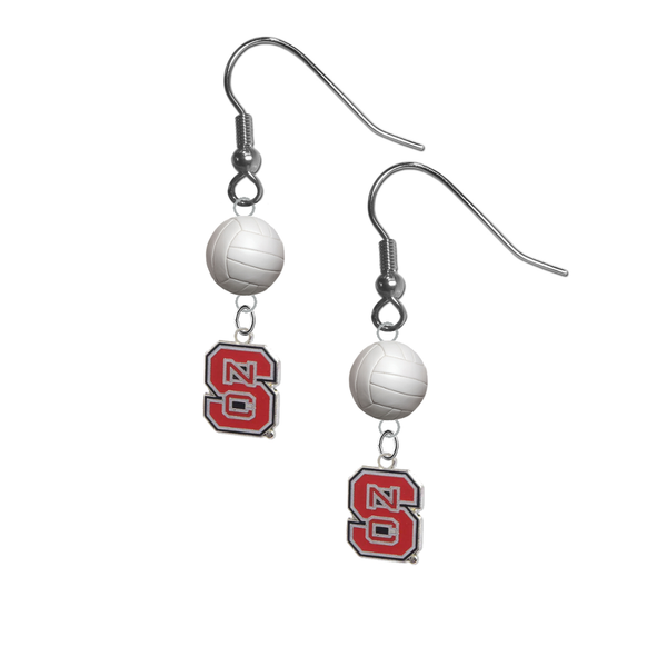 North Carolina State Wolfpack NCAA Volleyball Dangle Earrings