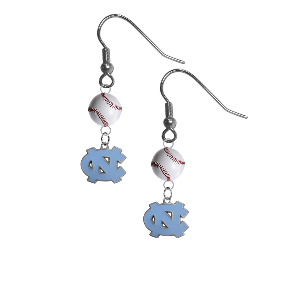 North Carolina Tar Heels NCAA Baseball Dangle Earrings