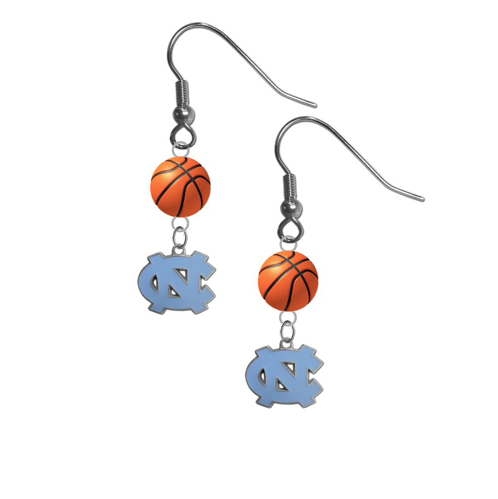 North Carolina Tar Heels NCAA Basketball Dangle Earrings