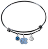 North Carolina Tar Heels BLACK Color Edition Expandable Wire Bangle Charm Bracelet