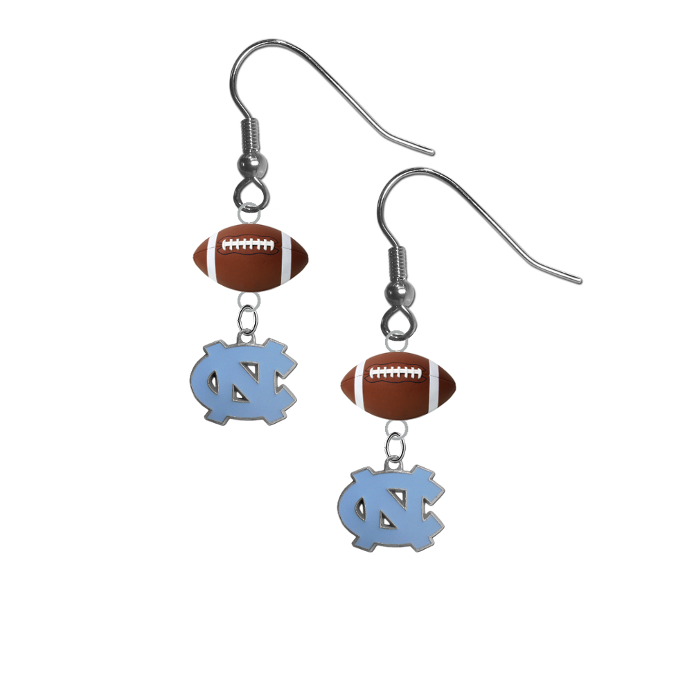 North Carolina Tar Heels NCAA Football Dangle Earrings