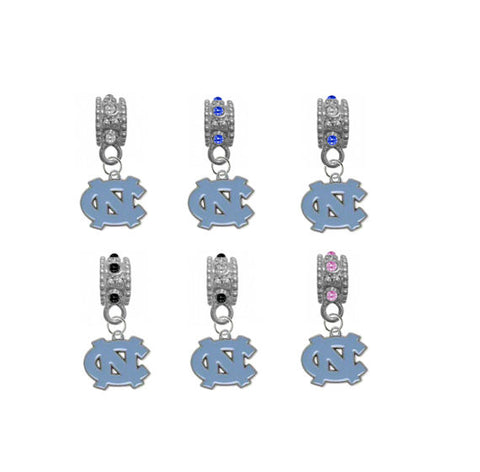 North Carolina Tar Heels NCAA Crystal Rhinestone European Bracelet Charm