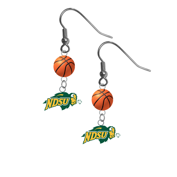North Dakota State Bison NCAA Basketball Dangle Earrings