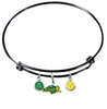 North Dakota State Bison BLACK Color Edition Expandable Wire Bangle Charm Bracelet
