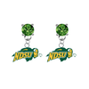 North Dakota State Bison GREEN Swarovski Crystal Stud Rhinestone Earrings