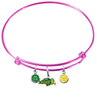 North Dakota State Bison PINK Color Edition Expandable Wire Bangle Charm Bracelet