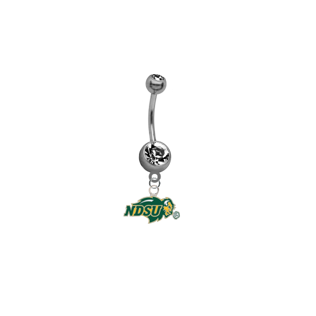 North Dakota State Bison NCAA College Belly Button Navel Ring