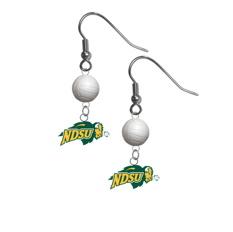 North Dakota State Bison NCAA Volleyball Dangle Earrings