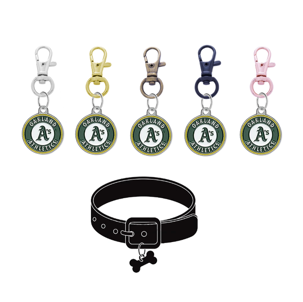 Oakland Athletics MLB Pet Tag Dog Cat Collar Charm