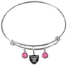 Oakland Raiders NFL Expandable Wire Bangle Charm Bracelet